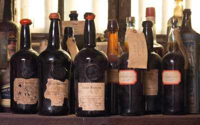 The bottles of Madeira had originally been imported to the U.S in 1796 - and remain perfectly drinkable to this day.