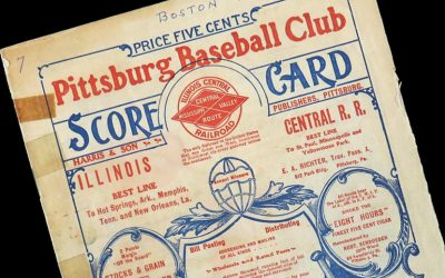The rare 1903 World Series baseball program is expected to sell for up to $250,000