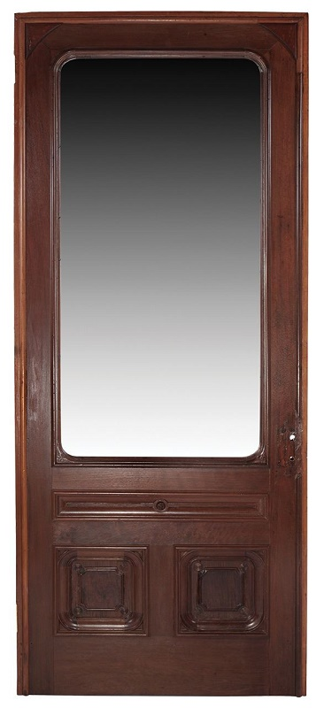The front door was later installed in a Wisconsin funeral parlour