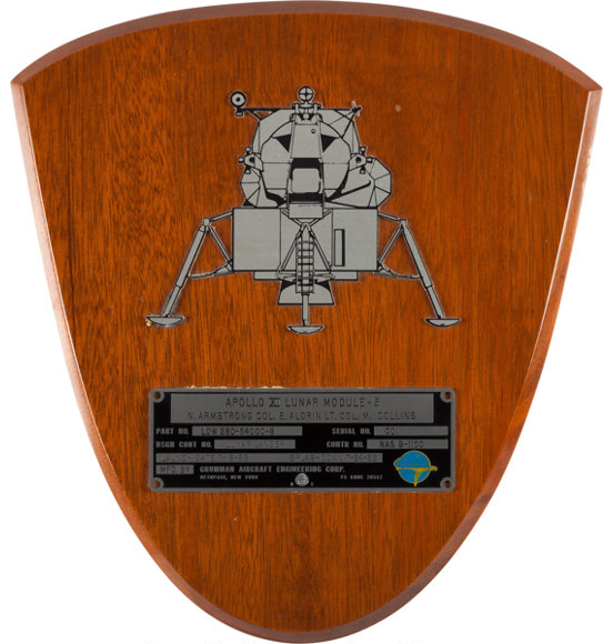 Neil Armstrong flown plaque