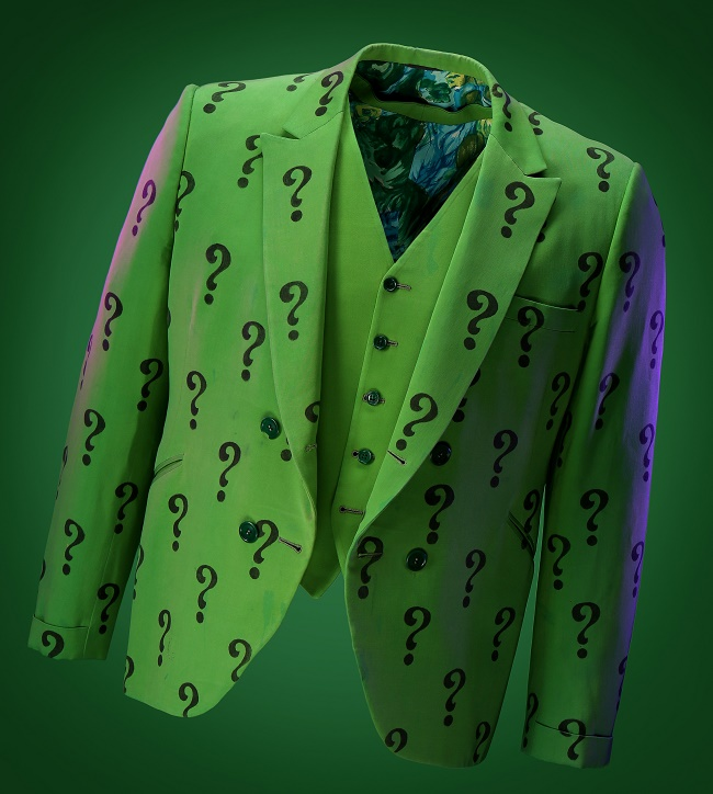 Frank Gorshin's Riddler jacket, worn in the show's very first episode 'Hi Diddle Riddle'