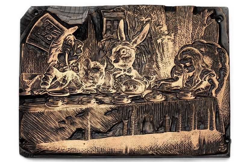 The original printing blocks for Alice in Wonderland were engraved more than 150 years ago