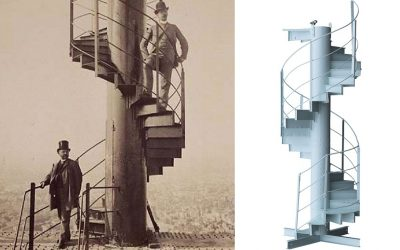 The sprial staircase section was part of the original tower when it was opened in 1889