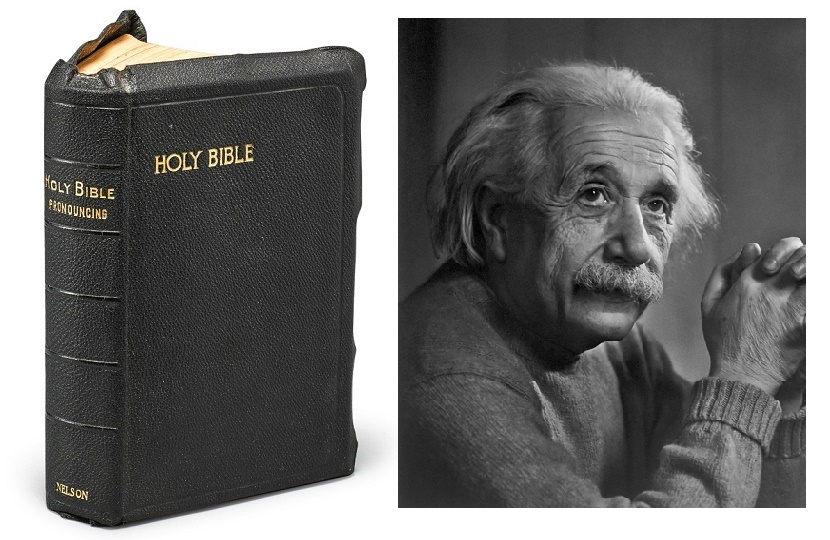 The only Bible known to have been signed by Albert Einstein is expected to sell for up to $300,000