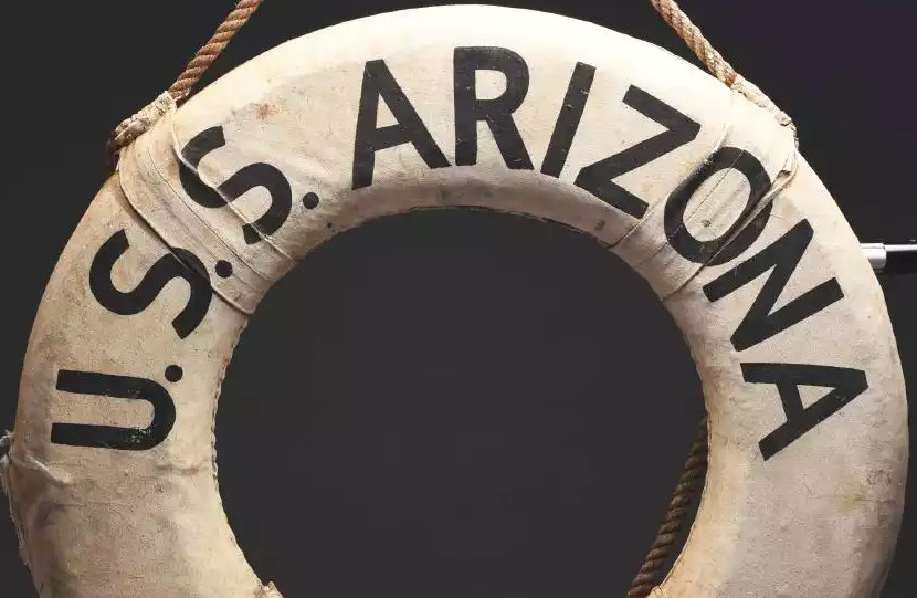 USS Arizona Pearl Harbor life ring
