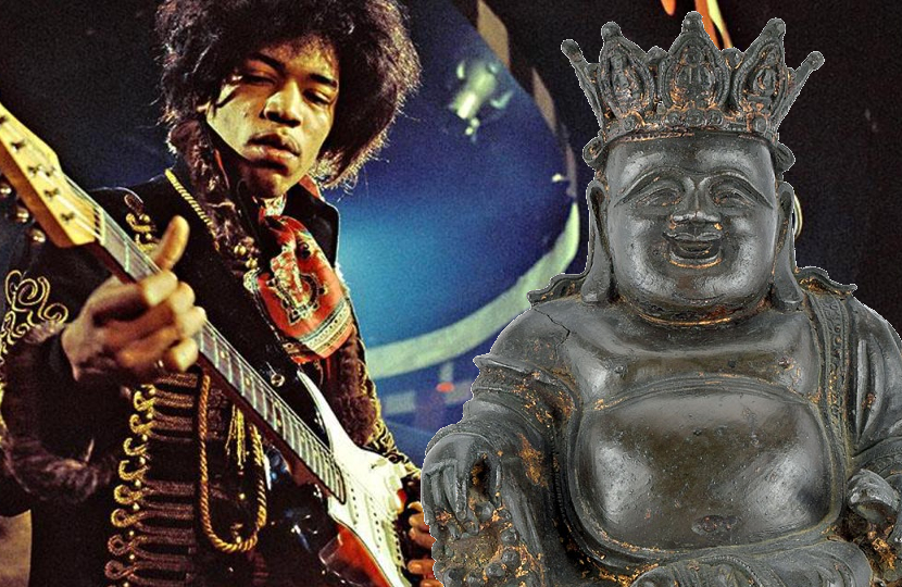 Jimi Hendrix's Ming Dynasty Buddha statue will be offered at RR Auction in Boston this week.