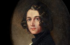 The miniature portrait by Margaret Gillies depicts Charles Dickens as a handsome, 31-year-old man