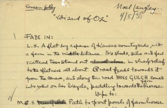 """The original handwritten first draft script of the Wizard of Oz had been described as """"perhaps the most important manuscript in Hollywood history"""""""