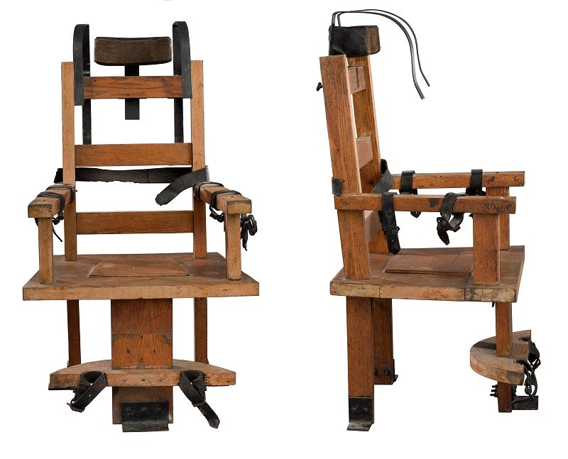 An antique electric chair