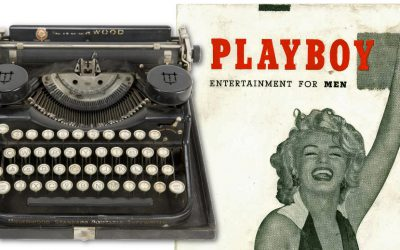 Hefner used the typwriter to create the very first issue of Playboy magazine back in 1953
