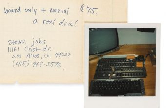 This rare Steve Jobs handwritten description of the Apple-1 is expected to sell for $40,000 - $60,000