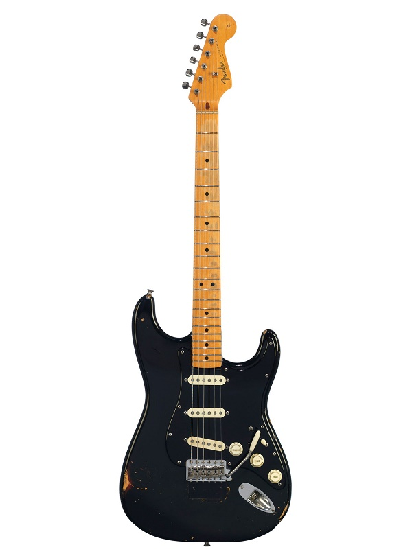David Gilmour's legendary 'Black Strat', used extensively throughout his career with Pink Floyd