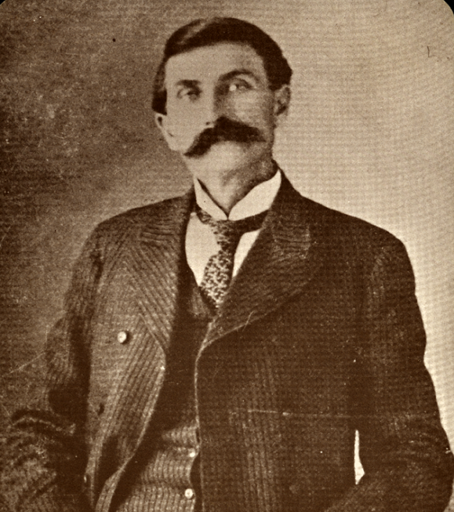 Sheriff Pat Garrett, the famous Old West lawman who tracked down and killed Billy the Kid in July 1881.