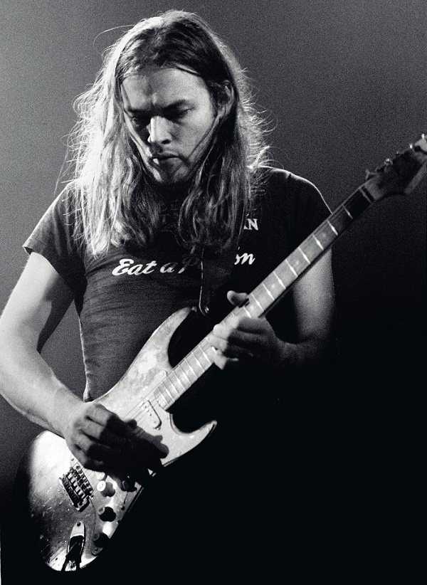 David Gilmour playing 'The Black Strat' with Pink Floyd, live at Earls Court in May 1973