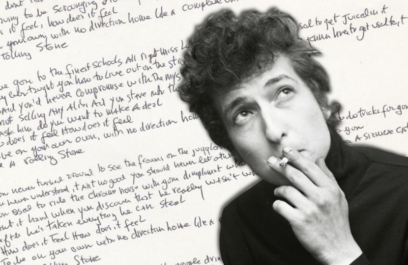 Bob Dylan like a rolling stone handwritten lyrics