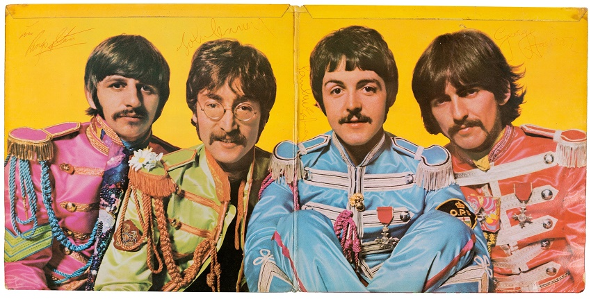 The fully signed copy of Sgt Pepper's Lonely Hearts Club Band is one of just six copies known to exist