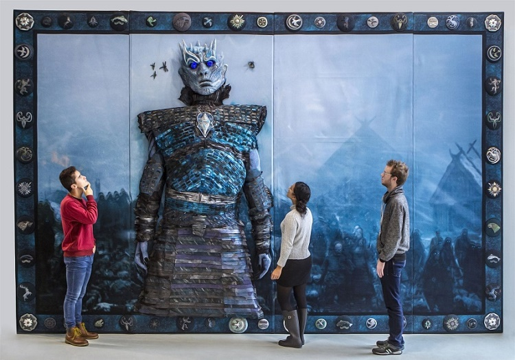 A monumental Game of Thrones embroideredpanel