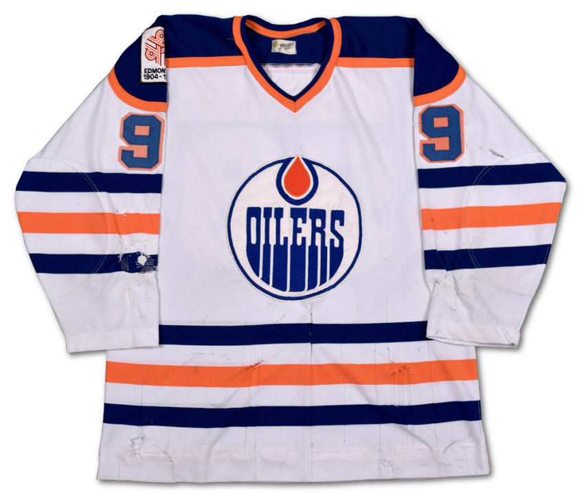 "Wayne Gretzky's historic rookie jersey has been described as ""a Canadian cultural relic"""