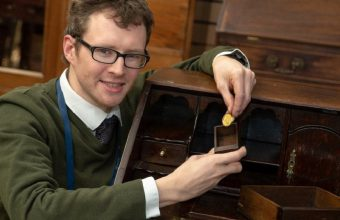 Hansons' expert Edward Rycroft discovered the coin hidden inside a secret drawer