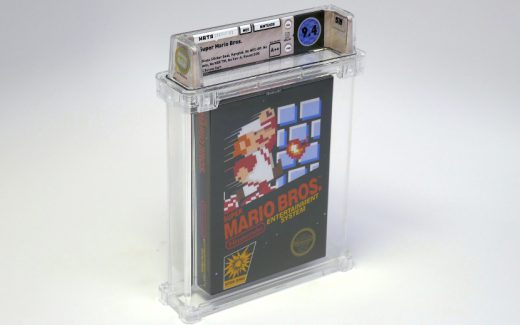 The unopened copy of Super Mario Bros. sold to a group of collectors for a world-record $100,150 earlier this month.