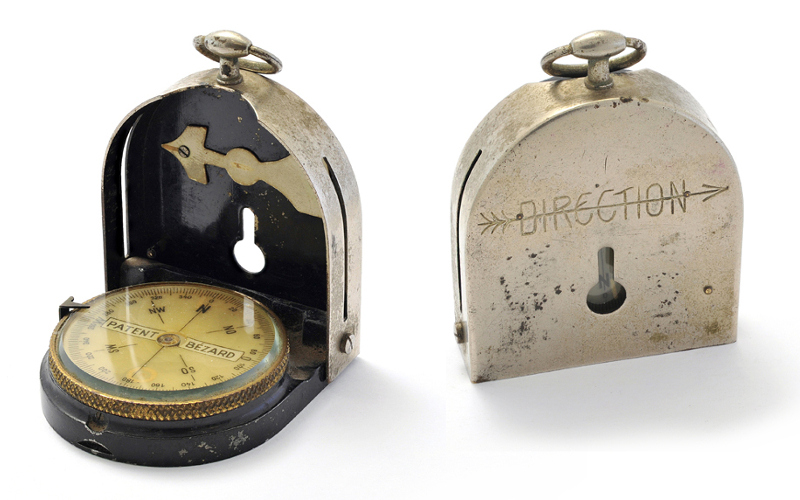 Oskar Schindler's compass, which he used to escape from Russian soldiers following the end of WWII