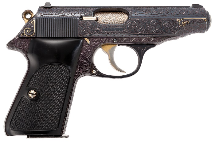 Frank Sinatra's custom-emgraved Walther PP semi-automatic pistol