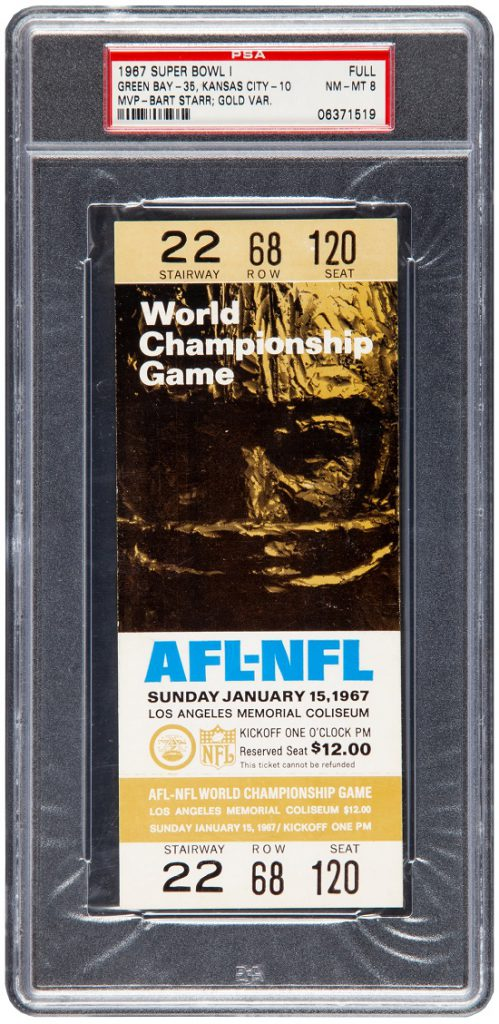 This unused ticket to Super Bowl I is one of just 44 examples known to exist