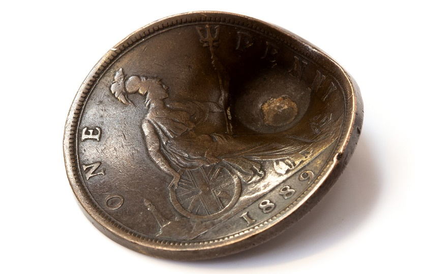 The penny miraculously saved the life of a British soldier by deflecting a German bullet aimed at his heart
