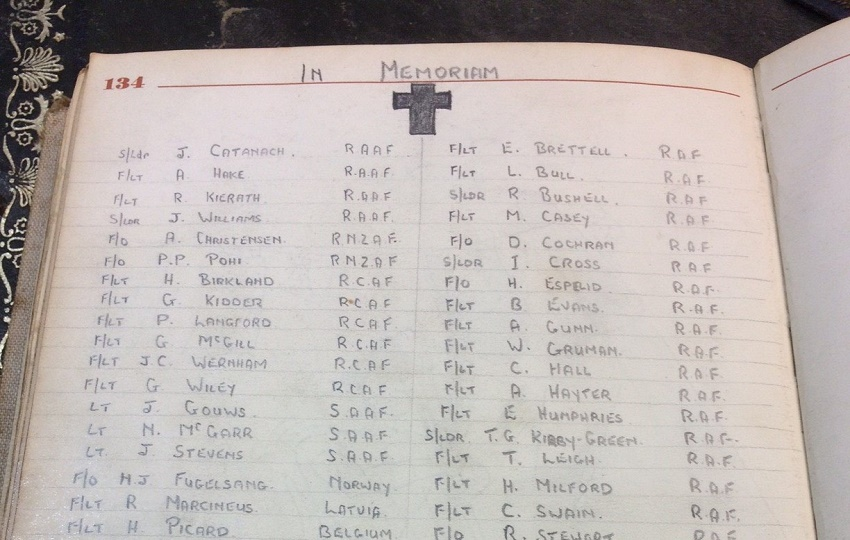 Phillips' 'In Memoriam' list details the men who lost their lives as part of the daring escape plan