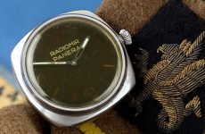 The rare Panerai Ref. 3646 wristwatch, designed for elite German frogmen during WWII