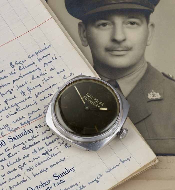The watch was acquired during the war by British soldier Captain Alfred Packer of the 43rd Reconnaissance Regiment, and remained in his family's collection for 75 years