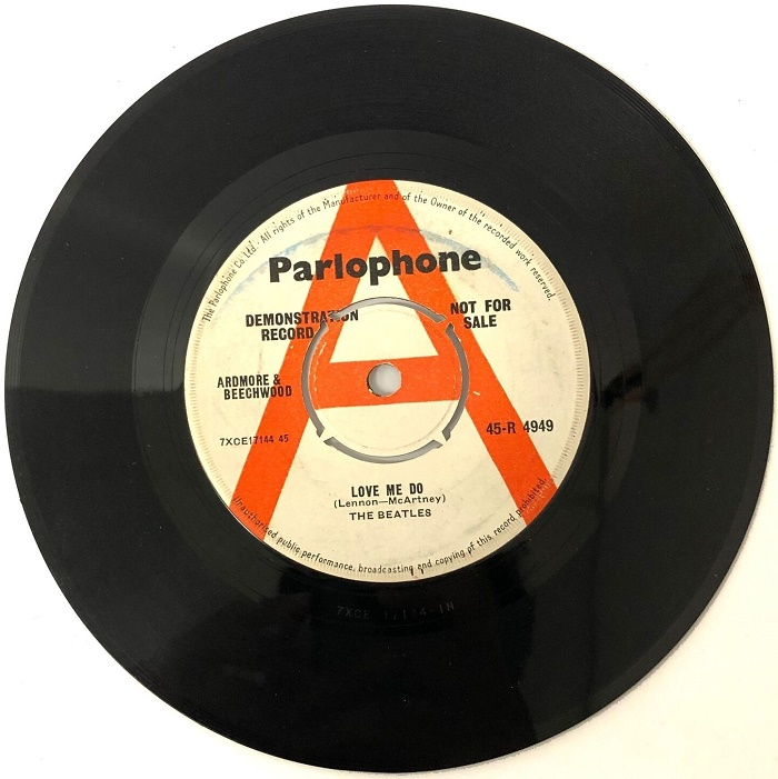 Parlophone pressed up just 250 copies of the demo for radio DJs and music journalists, prior to its official release in October 1962