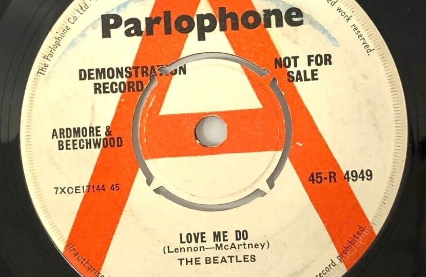 This highly rare demo copy of The Beatles' first single was discovered by staff at a U.K thrift store amongst a bag of anonymously donated records