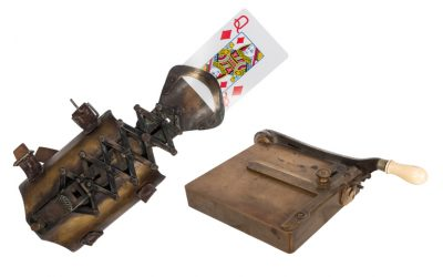 Gambling equipment used by Old West card cheats on offer at Potter & Potter on March 30