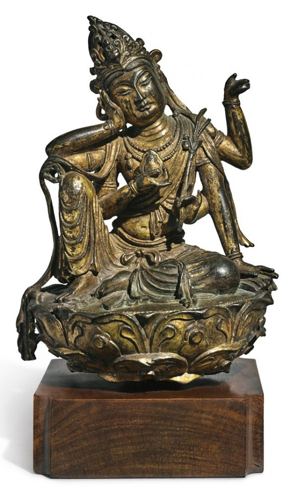 The statue is believed to have been produced by the Chinese Imperial workshop, either for the Emperor himself or a person of great importance