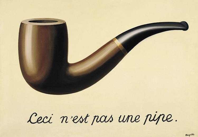 René Magritte's 'The Treachery Of Images', also known as 'This Is Not A Pipe'