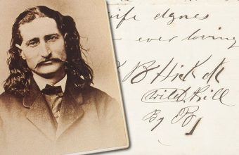 The love letter from 'Wild Bill Hickok to his wife Agnes is expected to achieve a six-figure sum at Heritage Auctions on May 4-5