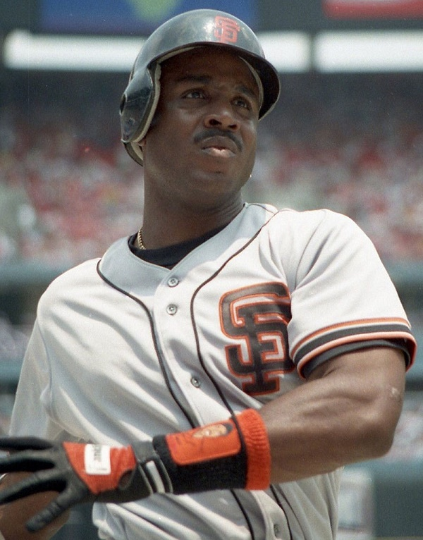 Barry Bonds, pictured playing for the San Francisco Giants in 1993