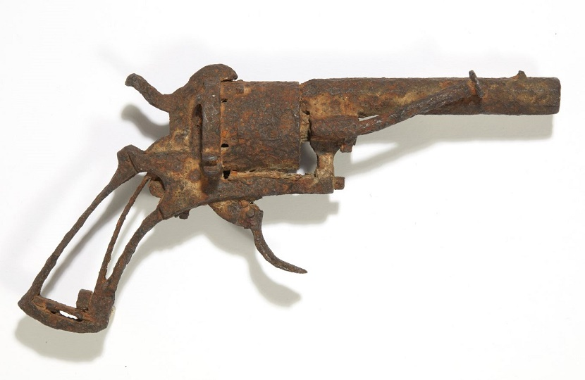 This rusted revolver is believed to be the gun which killed Vincent Van Gogh in July 1890