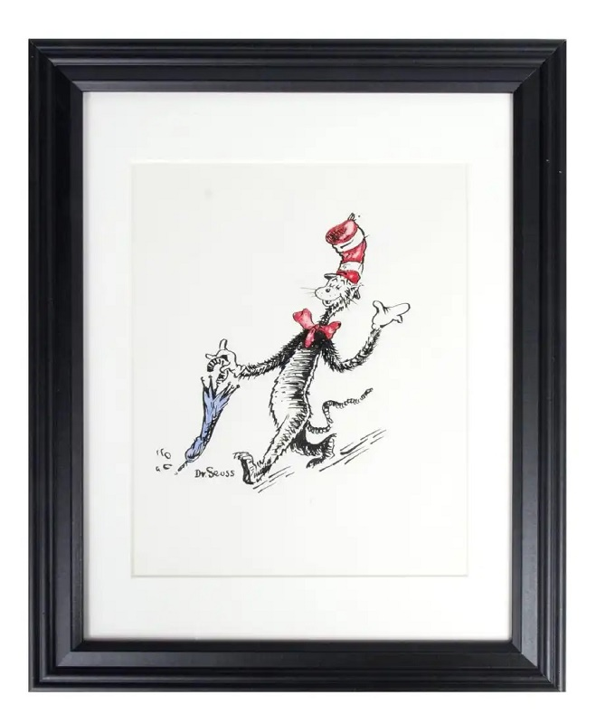 Signed Dr. Seuss The Cat in the Hat original drawing