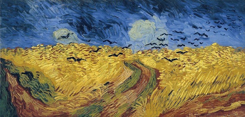 Wheatfield with Crows, painted by Vincent Van Gogh in July 1890, the same month as his death