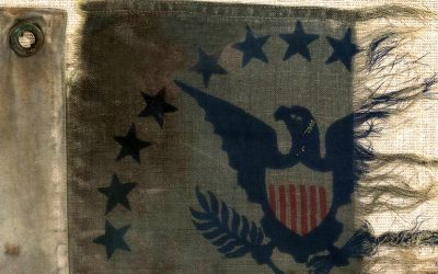 A US Coastguard flag flown during the WWII Normandy Invasion