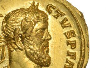 Roman Gold Aureus of Allectus, circa AD 293-296