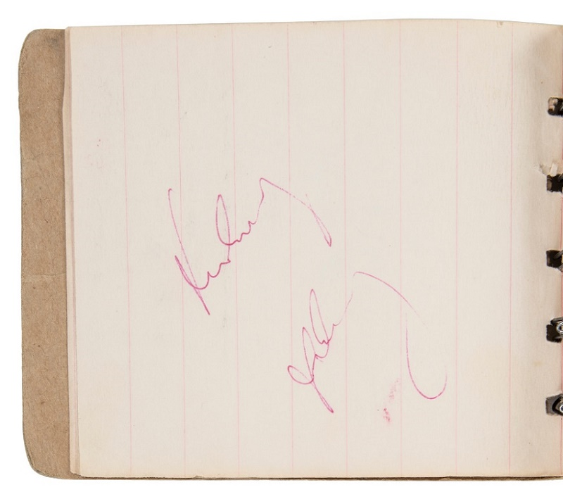President Kennedy signed the autograph book at approximately 11.20, around an hour before his death.