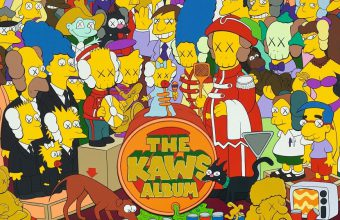 The artwork is a Simpsons-inspired parody of the Beatles album cover Sgt Pepper's Lonely Hearts Club Band