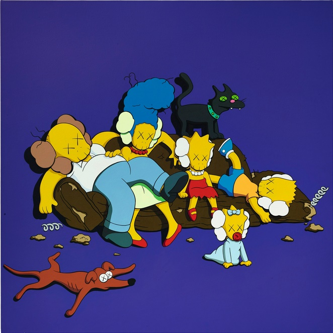 Another of Kaws' 'Kimpsons' artworks, which sold for $2.6 million