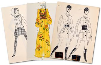 A collection of Karl Lagerfeld's early design sketches will be offered for auction in Miami on April 16