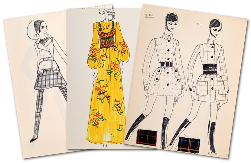 Karl Lagerfeld S Original Fashion Design Sketches To Auction In Miami