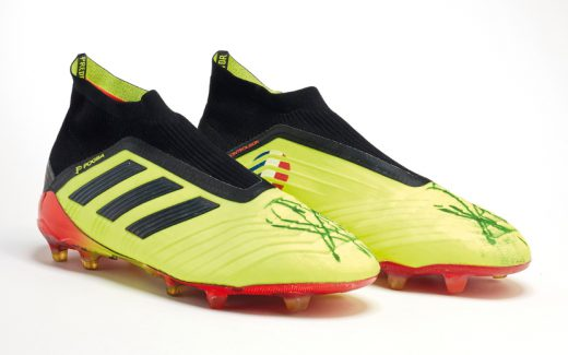 Paul Pogba's match-worn boots from the 2018 World Cup final