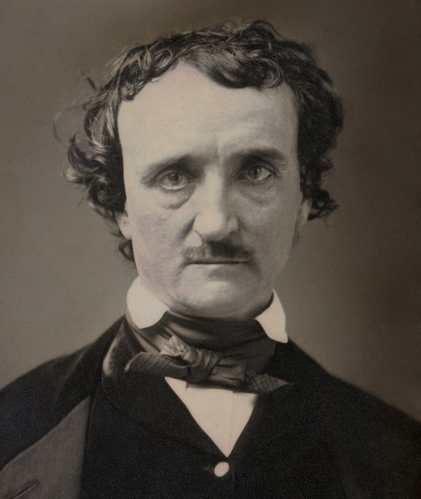 Edgar Allen Poe as photographed in 1849, just a few months before his mysterious death